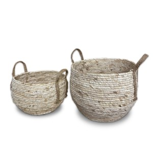 """Rope Basket, Set of 2, Cornrope"""