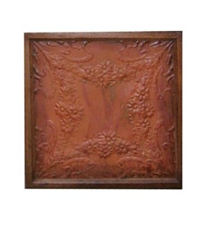 """Iron Ceiling Panel w/frm, Rust"""