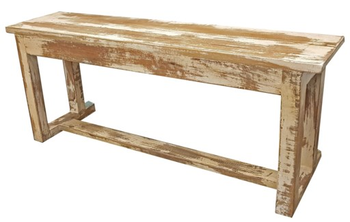 Small Antique Wooden Bench, White 36Lx8.5Wx15H inches Discontinued as per Frank 04.05.2019