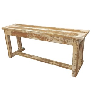 """Antique Wooden Bench, Wt"""