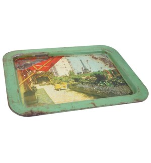 Antique Printed Iron Tray
