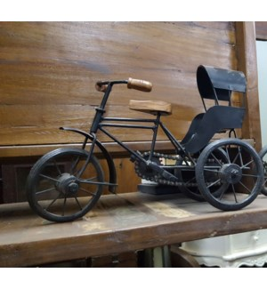 Iron Tricycle Cart, 17x33x19 inches