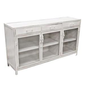 """Iron Cabinet, White LC"""