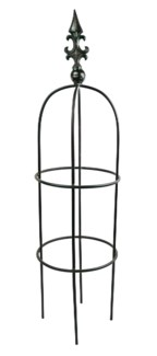Iron Plant Plant Support Obelisk, Small,Black Finish 11.8x11.8x45.2