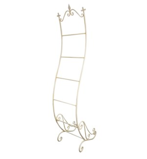 Iron Towel/magazine rack White