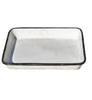"""Antique Enamel Tray, OS"""