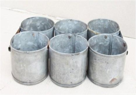 Antique 6 Zinc Pot 12x8x3.5 inches