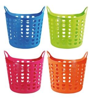Round open laundry basket