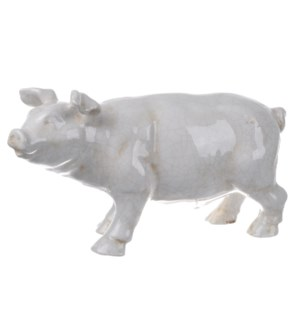 Hector Pig Statuette, White16x5.5x8.5inches *Last Chance! On sale 25 percent off!