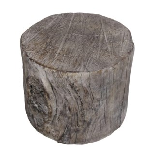 Round Cement Tree Stump Medium, 9.6x9.4x7.9 Inches