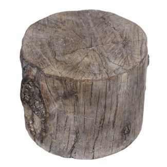 Round Cement Tree Stump Small, 7.7x7.5x5.9 Inches