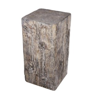 Square Cement Tree Stump Large, 8.7x8.2x15.3 Inches *Last Chance!*