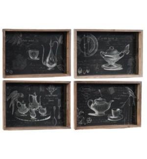 Cafe&Tea Party Tray 4Astd OS