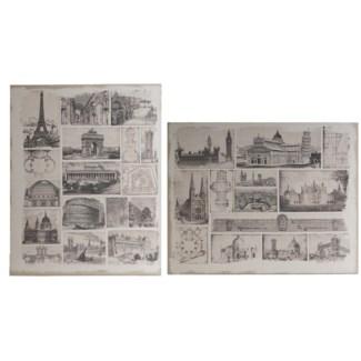 Architectural Travels Panel Prints60x48  set of 2,  *Last Chance!*