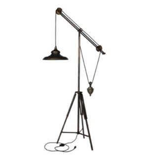 Giles Iron Weighted Floor Lamp, 34.3x18.5x68.8inch