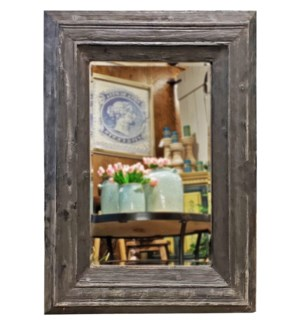 """Colfax Wall Mirror, Black, 30x2x39inch"""