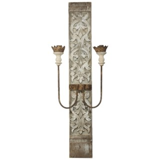 Two Light Wall Sconce, Electric, 16x9x45 inches ON SALE 35 percent off 156