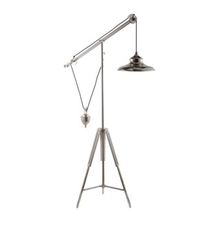 Quillon Balancing Floor Lamp, Chrome finish, 31x17x71.5 Inch