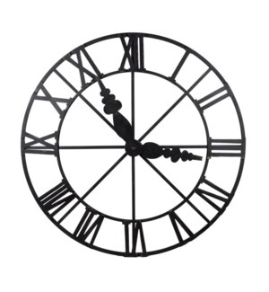 Faux Clock Wall Decor, 50% Iron,50% Mdf, 46x2.5x46