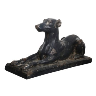 Laying Dog, Magnesia, 29x9x15 Inches