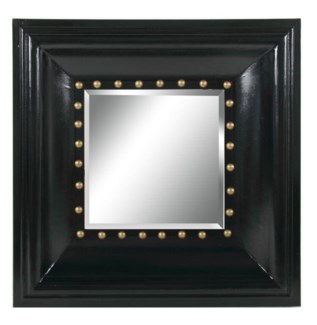 Wide Black Frame Mirror 32x3.9x32inch. Wood Glass  On sale 50% off original price of $275.00