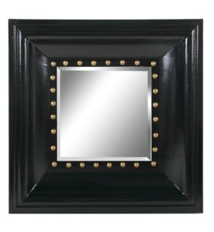 Wide Black Frame Mirror 32x3.9x32inch. Wood Glass  On sale 60% off