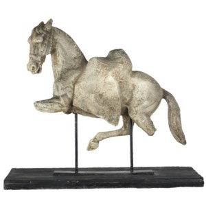 """Altus Equine Figure On Stand, 35x9.8x30.3 Inches"""
