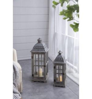 Urban Scape Lanterns S/2 L:10X10X28 S:7.5X7.5X22 SPRING 2017  *Last Chance!*