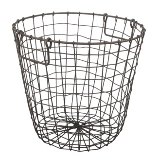Grafton Round Wire Basket, Rusty, D14x13 inches *Last Chance!