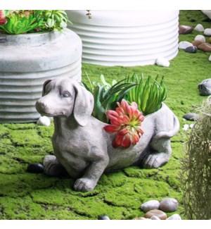 Dog Planter, 60% Magnesium,20% Inorganic,20% Fiber, 20.1x6.7x11.8