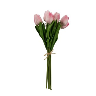 Faux Tulip Bundle Pink, 5.5x5.5x12.5 Inches