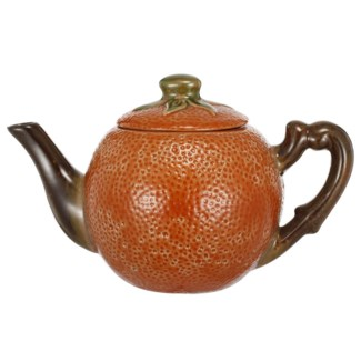 Orange Teapot, 9x5x5.5 Inches