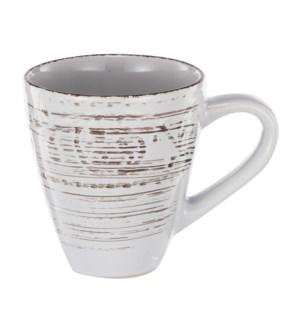 """Rustic Flare Mug, White"""