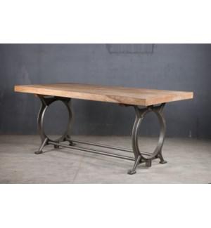 Cybil Industrial Iron Table