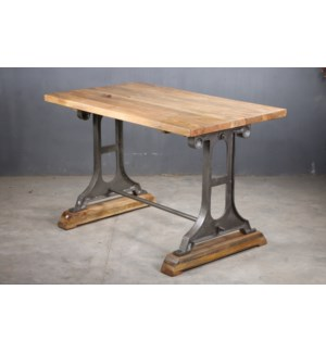 Cheryl Industrial Dining Table, 47x27x30, Mangowood/Cast Iron,