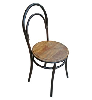 Dianna Industrial Dining Chair, Mangowood/Cast Iron