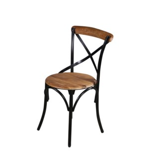 Walter Industrial Dining Chair, Mangowood/Cast Iron