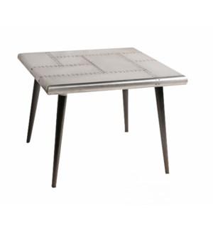 Lita Industrial Table, 24x24x18, Metal