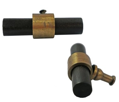 Brass and Wood Pull Knob, Brass and Wood,