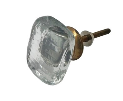 Smooth Rectangular Glass Knob