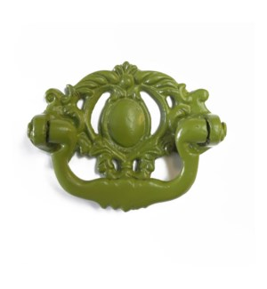 Victorian Handle, Dist. Green, Cast Iron, Large, 3x3.5 in*ETA Summer 2019*