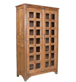 """RS-36735 - Vintage 2 Door Tall Cabinet Natural, 43x19x72 Inches On Sale 20% off"""