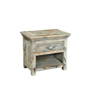 RS-35837 Vintage Replica Cabinet,Mango Wood, Cream 23x14x20 inches