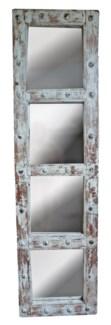 RM-34829 Vintage Door w/Mirror, teak wood, Lt. Green 19x2x71 inches