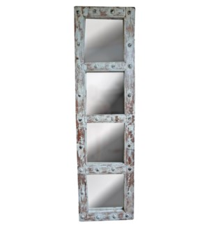 RM-34829 Vintage Door w/Mirror, teak wood, Lt. Green 19x2x71 inches On Sale 30% off