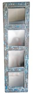 RM-34829 Vintage Door w/Mirror,Teak wood, Lt. Blue 19x2x71 inches