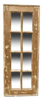 RM-24495 Vintage 5-8 panel Mirror, Teak wood frame, Various, 16.5x50 inches