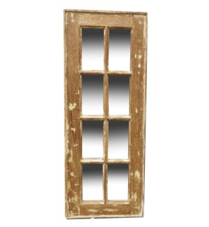 """RM-24495 Vintage 5-8 panel Mirror, Teak wood frame, Various, 16.5x50 inches"""