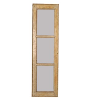 """RM-24495 Vintage Mirror, 3 panel, Teak wood frame, Various 17x2x44 inches"""