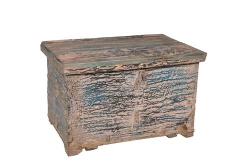 RM-26321 Vintage Chest,Teak wood, Dist. 24x15x16 inches